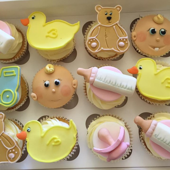 New born baby novelty cupcakes