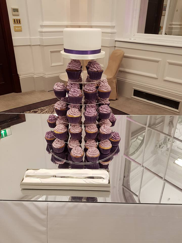 Purple wedding cupcakes Edinburgh (1)