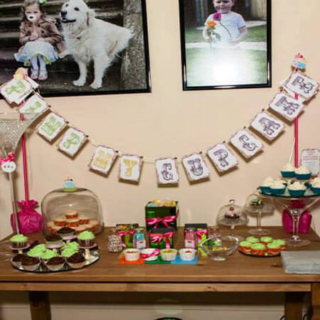 birthday cake table