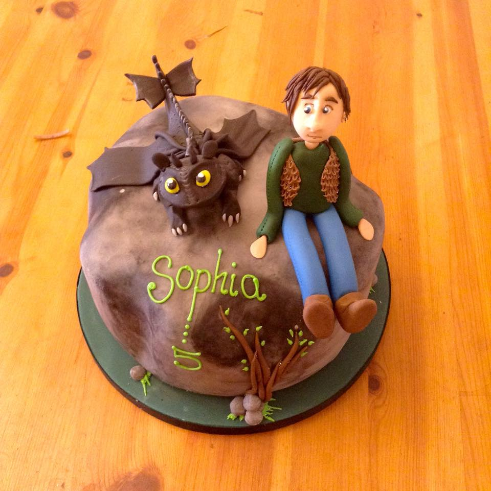 how to train my dragon birthday cake