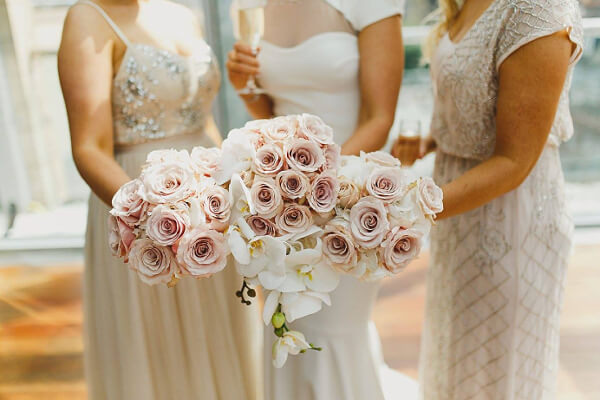 white bridesmaid flowers