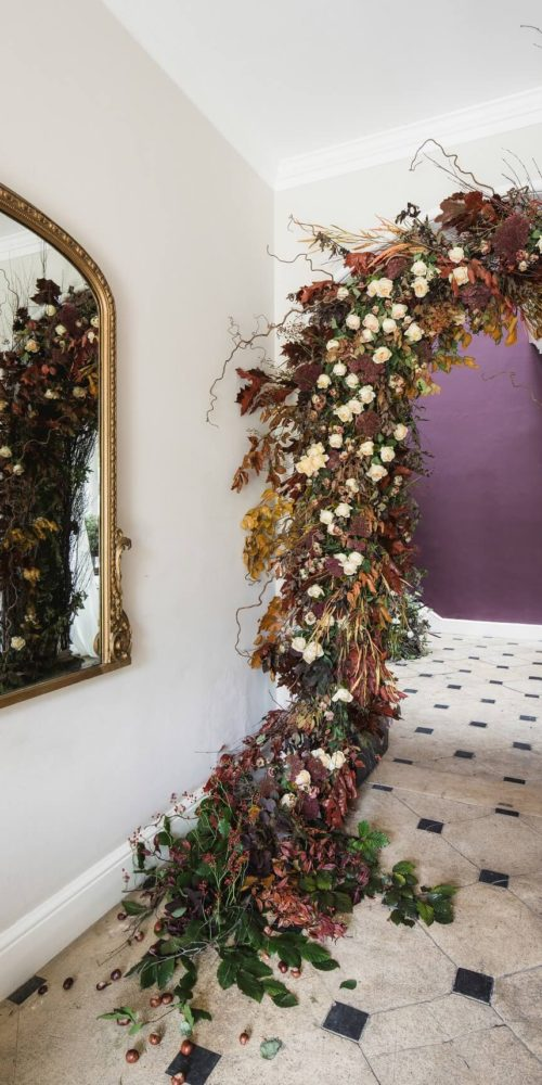 wedding arch flowers edinburgh