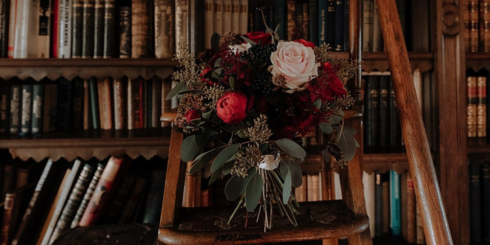 Library wedding bouquet
