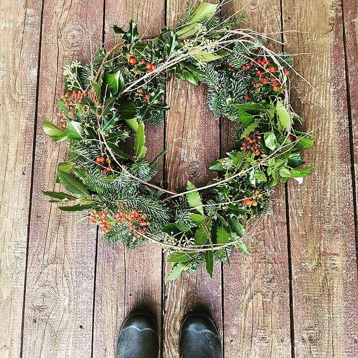 Christmas wreath making class