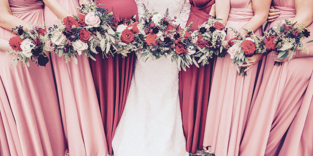 Vibrant Red Wedding Bouquets