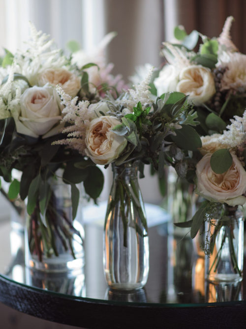 White Flower Vase Bouquets