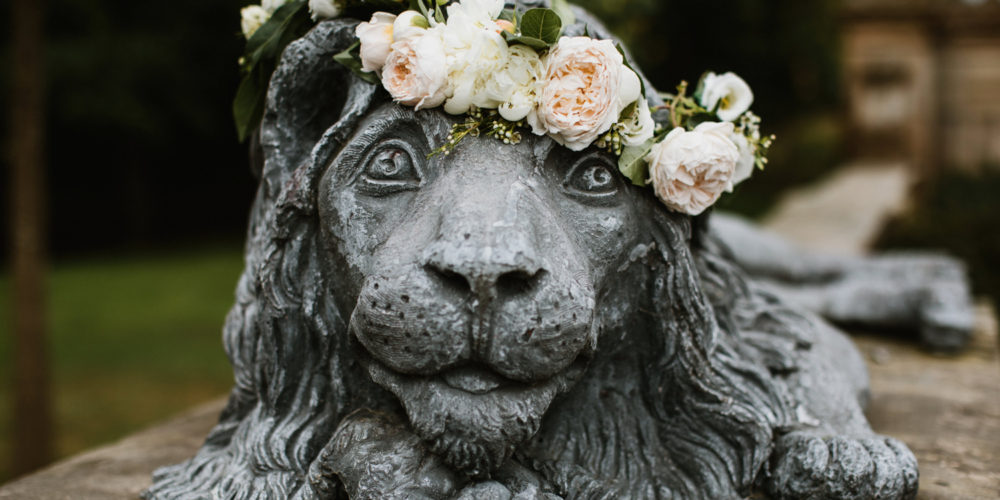 Lion Head Floral Wreath