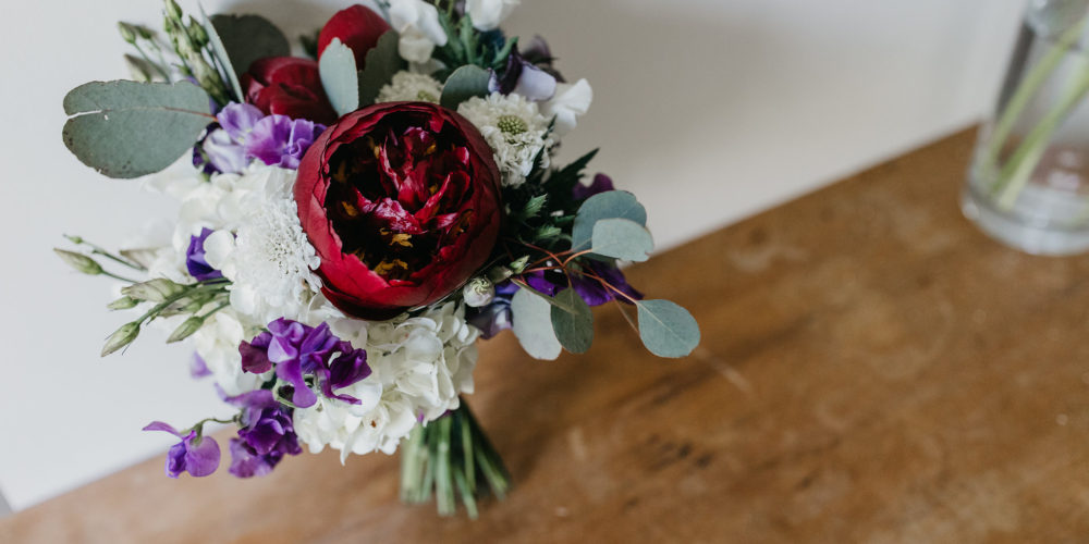 Red Wedding Floral Bouquet