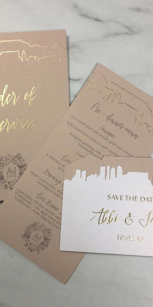 order of service wedding cards