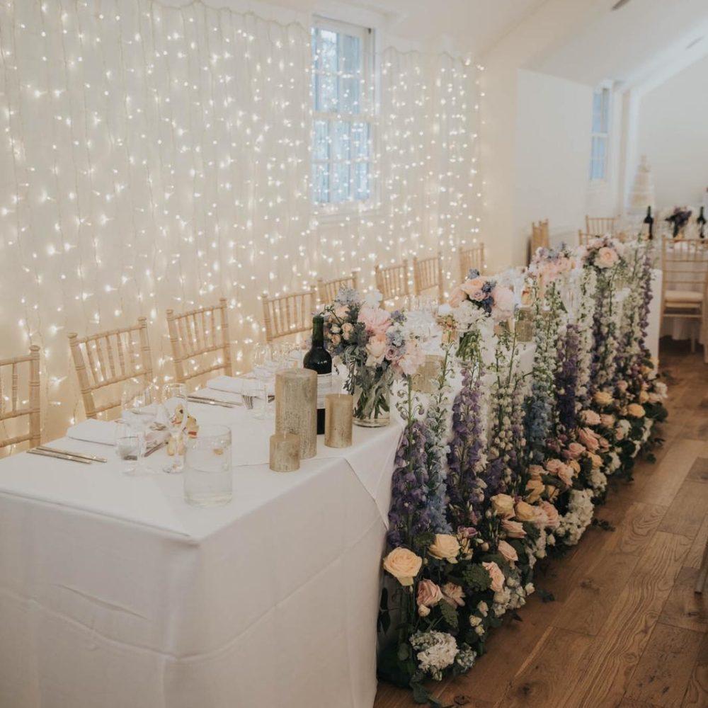 Wedding Table Floral Display