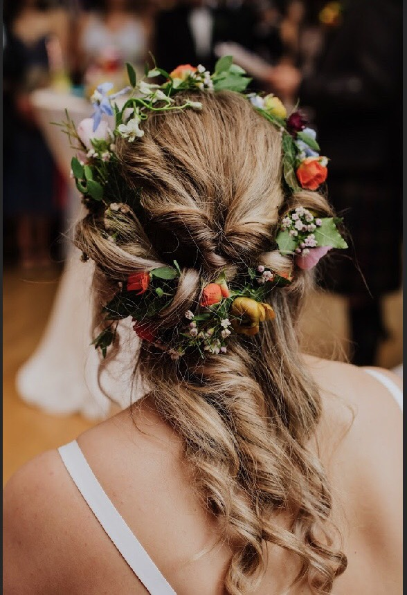 wedding floral headband
